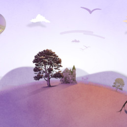 animated tv commercial tree on hill
