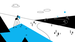 Animation style landscape