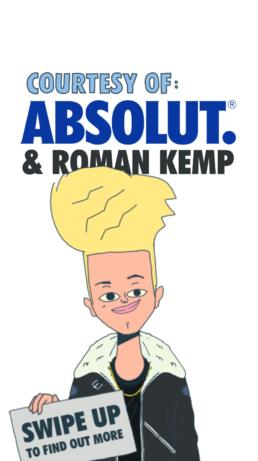 Absolut campaign roman kemp
