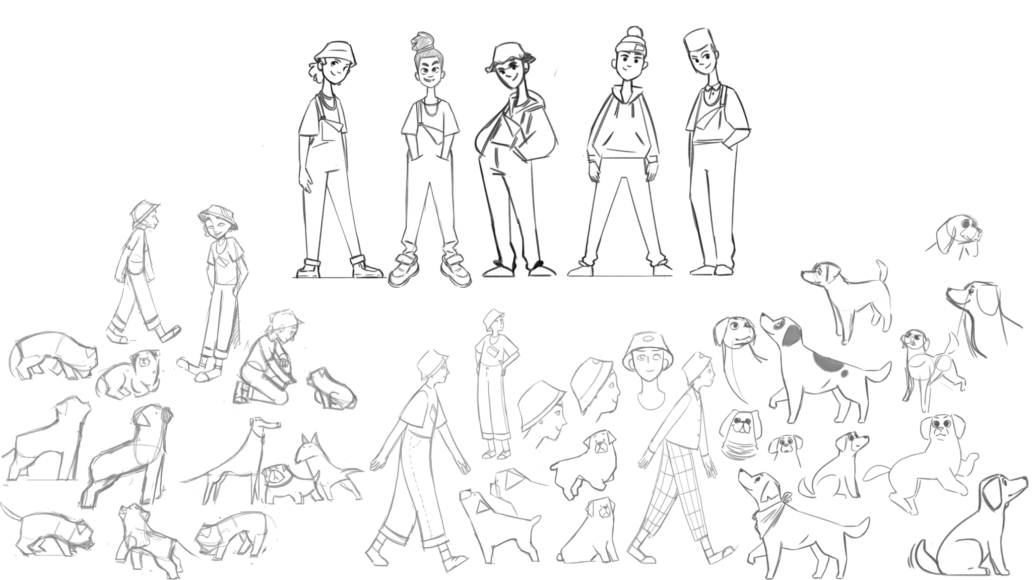 Story Driven video pencil sketchs