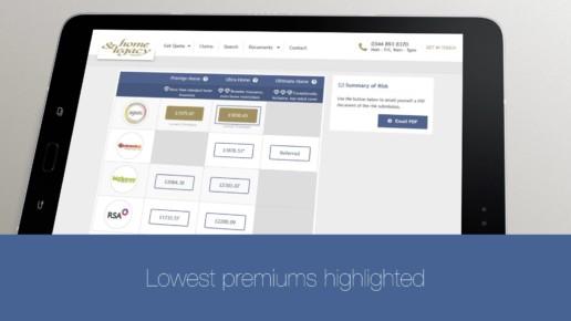 Insurance animation e-trading blue