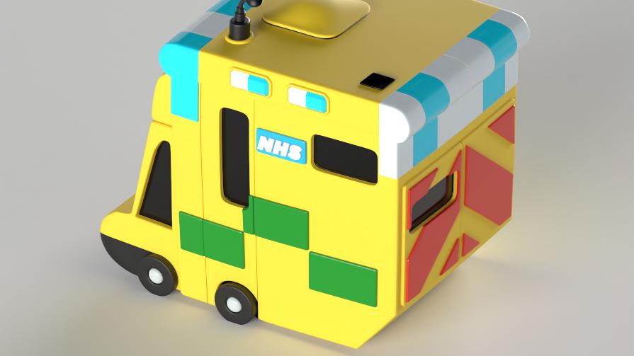Cartoon NHS ambulance
