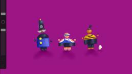 Cartoon IOS characters